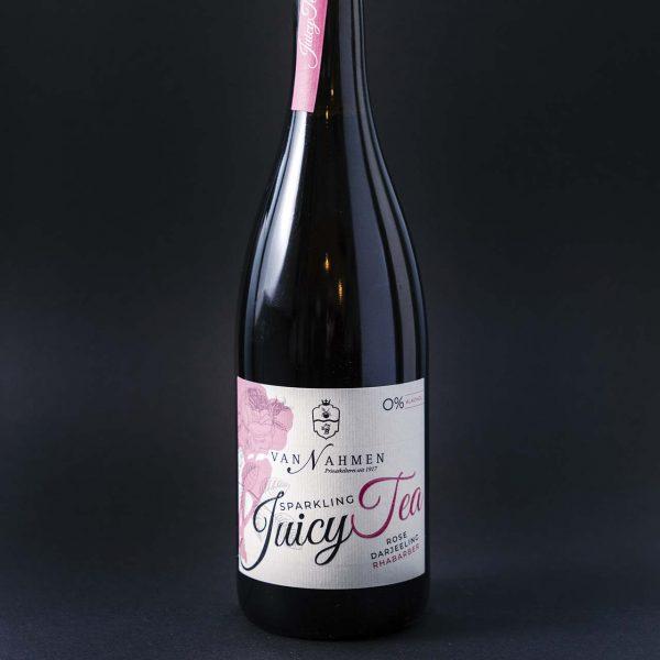 Drikkevarer - Sparkling Juicy Tea - Rose Darjeeling Rabarber
